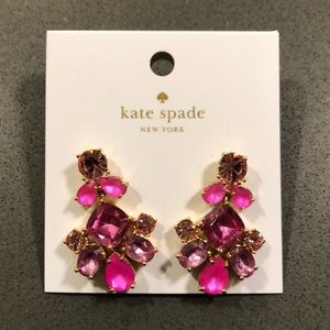 Kate Spade Pink Pendant Chandelier Earrings